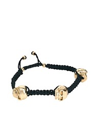 ASOS 3 Gold Skulls Bracelet