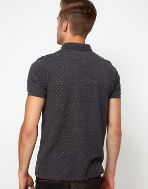 Image 2 ofASOS Polo With All Over Polka Dot