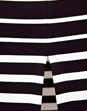 Image 3 ofASOS Ponte Pencil Skirt in Variegated Stripe