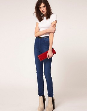 Image 4 ofJust Female High Waist Skinny Jeans