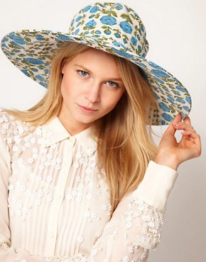 Image 1 ofASOS Floral Floppy Hat
