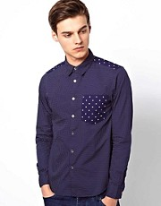Black Chocoolate Shirt With Stars And Spots