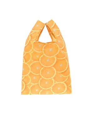 Image 1 ofASOS Orange Print Shopper