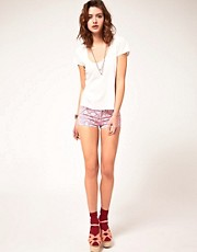 ASOS Denim Knicker Shorts in Bandana Print