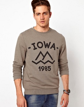 Image 1 ofASOS Sweatshirt With Iowa Print