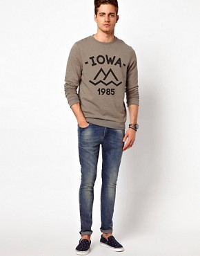 Image 4 ofASOS Sweatshirt With Iowa Print