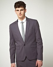ASOS Slim Fit Suit Jacket in Gray