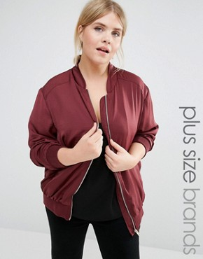 New Look Plus Sateen Bomber