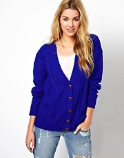 Glamorous Aran Knit Boyfriend Cardigan