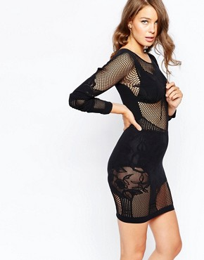 French Connection Chalice Lace Bodystocking Dress