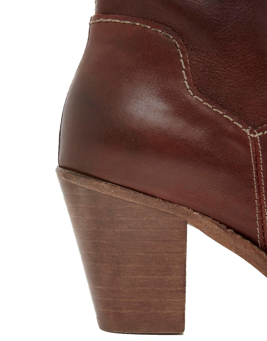 Image 2 ofH By Hudson Brock Cognac Heeled Ankle Boots