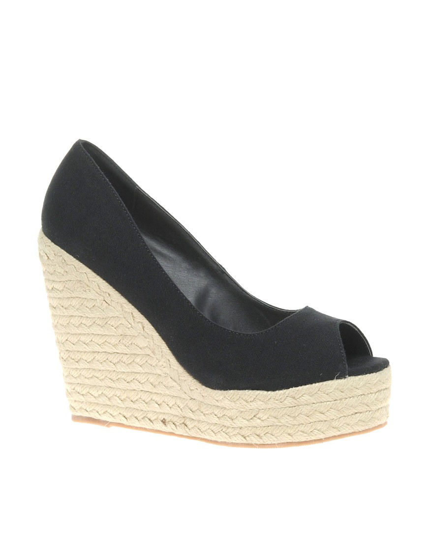 Image 1 of ASOS PENNY Wedges with Peep Toe