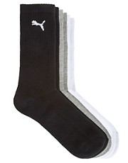 Puma 3 Pack Mixed Crew Socks