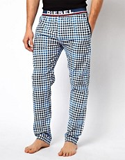 Diesel Check Jersey Lounge Bottoms