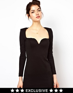 Image 1 ofOh My Love Sweetheart Neckline Bodycon Dress