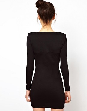 Image 2 ofOh My Love Sweetheart Neckline Bodycon Dress