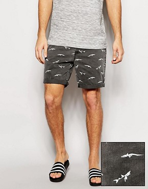 ASOS Chino Shorts With Shark Print