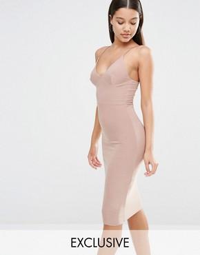 Club L - Midi Dress With Cami Strap