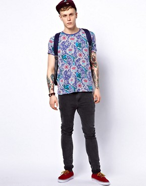 Image 4 ofASOS T-Shirt With All Over Floral Print