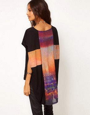 Image 1 ofASOS Tunic with Galaxy Print Cross Back