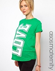 ASOS Maternity Exclusive T-Shirt With Love Print