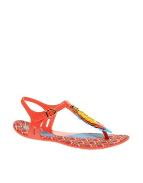 Image 1 ofMelissa Lua Leaf Flat Sandals