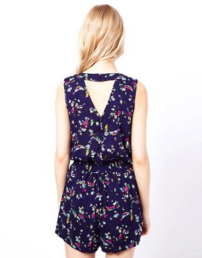 Image 2 ofTraffic People Playsuit In Bird Print