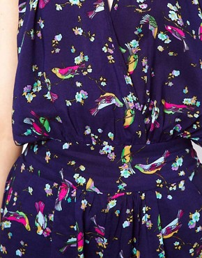Image 3 ofTraffic People Playsuit In Bird Print