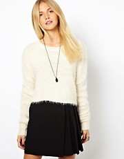 ASOS Fluffy Crop Sweater