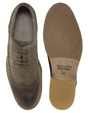 Image 3 of Selected Homme Doker Suede Brogues
