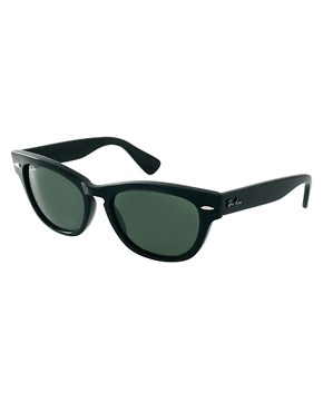 Image 1 ofRay-Ban Black Larami Small Frame Sunglasses