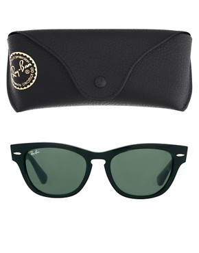 Image 2 ofRay-Ban Black Larami Small Frame Sunglasses