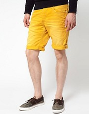 Jack and Jones Roll Up Denim Shorts