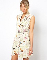 Oasis Butterfly Wrap Dress