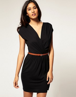 Image 1 ofASOS Cross Front Dress with Belt