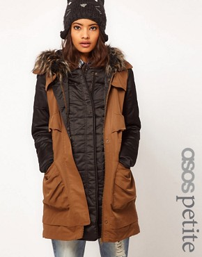 Image 1 ofASOS PETITE Gilet Parka