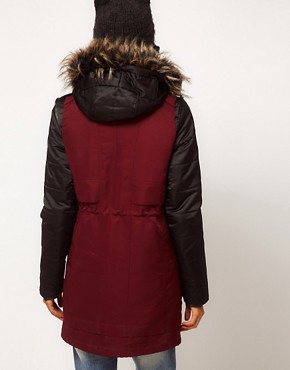 Image 2 ofASOS PETITE Gilet Parka