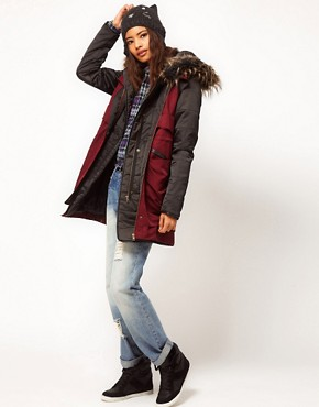 Image 4 ofASOS PETITE Gilet Parka