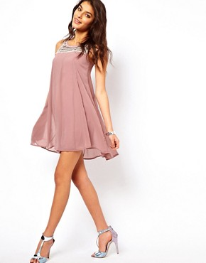 Image 4 ofTFNC Swing Dress With Embellished Bib