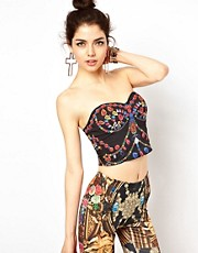 Ginger Fizz Bustier In Gliteratti Print