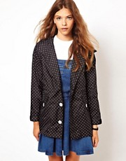 White Chocoolate Polka Dot Anorak