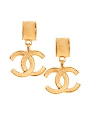 Susan Caplan Vintage Chanel '90s Drop Earrings