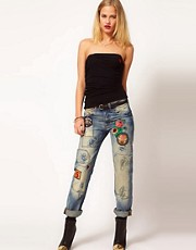 Vivienne Westwood Anglomania For Lee Authentic Jeans In Patched