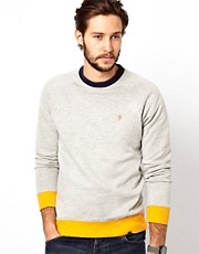 Farah Vintage Sweatshirt with Contrast Hem