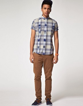 Image 4 of ASOS Short Sleeve Check Shirt
