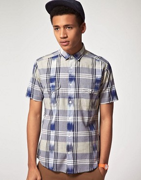 Image 1 of ASOS Short Sleeve Check Shirt
