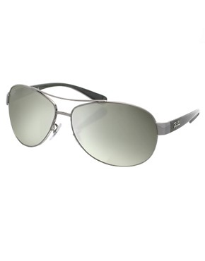 Image 1 ofRay-Ban Aviator Sunglasses with Contrast Arms