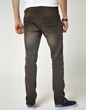 Image 2 ofASOS Washed Black Skinny Jeans