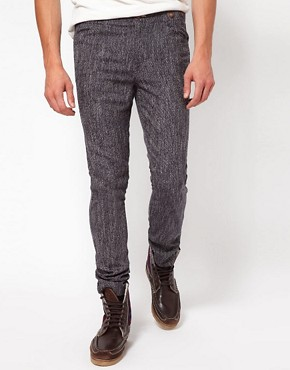 Image 1 ofASOS Skinny Chinos In Wool