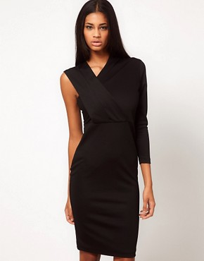 Image 1 ofAqua Magdaline Asymmetric Pencil Dress